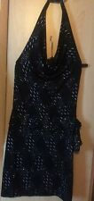 Jane Norman Black Party Evening halterneck Bodycon Dress size 12
