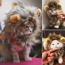 Furry Pet Hat Costume Lion Mane Wig For Cat Halloween Dress Up With Ears