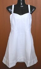 NWT~Gorgeous COUNTRY ROAD Jacquard BRIGHT WHITE Summer Bustier DRESS~12 LAST ONE