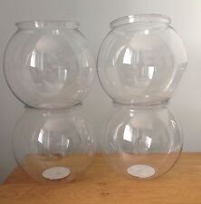 Clear Plastic Cocktail Goldfish Bowl x4 - Hen, Stag, Party, Weddings, Etc