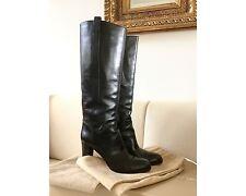 Neu ♥ Sergio Rossi ♥ Stiefel Leder Schwarz Gr. 39,5 Lederstiefel Neupreis 625,-