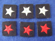 6 X BRAND NEW ROYAL OBSERVER CORPS BLUE & RED  EXAM/QUALIFICATION SKILL STARS