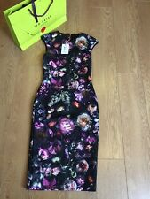 BNWT and Bag❤Ted Baker RAISIE Shadow Flora Bodycon Dress SIZE 3 (UK 12) RRP £159
