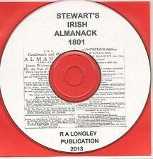 Irish Almanack of 1801 on CD