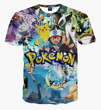 New Fashion Women Men Cartoon POKEMON GO 3D Print Casual T-Shirt Short Sleeve L