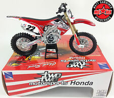 CHAD REED Honda CRF 450 - 1:12 Die-Cast Motocross Mx Toy Model Bike Red New Ray