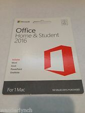 Microsoft Office 2016 Home and Student For 1 Mac English GZA-00531