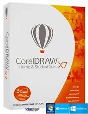 Corel Draw X7 Home & Student 3 PC Vollversion + Lernvideo Deutsch Download NEU