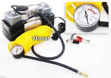 Compresseur d'air PRO double cylindre 12V 10 bars + manomètre pneus 4x4 voiture