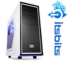 DEEPCOOL WHITE TESSERACT SW-WH MID ATX COMPUTER CASE  BLUE LED FAN