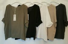 New LAGENLOOK Quirky OVERSIZED Layering LINEN boxy boho PONCHO Top 12-18 (beige)
