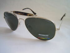 POLAROID SUNGLASSES AVIATOR GOLD GREEN G15 POLARISED DRIVING P4241A GENUINE
