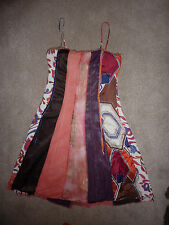 Dorothy Perkins multicoloured sleeveless A line cocktail, casual dress. Size 14