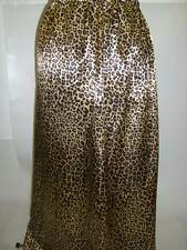 leopard animal print satin underskirt slip made to order any size length plus