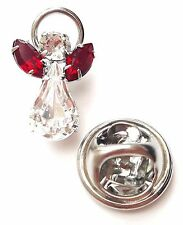 Swarovski Crystal Elements Birthstone Guardian Angel Pin January Garnet