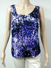 NEW FAST to AUS - Anne Klein Top - Sleeveless - Size S - Purple Printed - $59.00