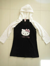 BN Hello Kitty Ladies Black/White Hooded Robe   Size XL
