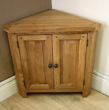 SOLID OAK CORNER CABINET 80cm x 46cm x 80cm FREE DELIVERY