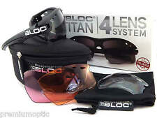 BLOC interchangeable TITAN polarized Sport Sunglasses Black/ 4 Lens Box Set P630