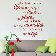 The Best Things in Life Art Wall Sticker Quotes Wall Decals Wall Decoration 40-1