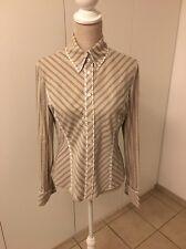 Great Karen Millen beige with black stripe Shirt Size 14