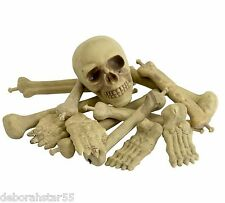 Bag of Skeleton Bones Halloween Pirate Table Decoration Party Prop Costume Toy