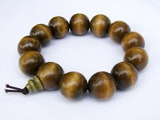 Men's WOODEN WRIST MALA BRACELET BUDDHIST MEDITATION HEALING 18mm beads