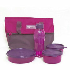 New Tupperware Berrylicious Lunch Set Lunch Box Bag - (3 Bowls, 1 Bottle, 1 Bag)