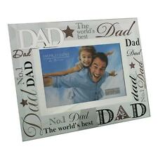 "Dad Gift - Worlds best dad glass picture photo frame 6""x4"" FG573D"