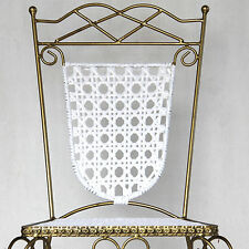 6 X Dining Chairs with Gold Colour Iron Frame & White Wicker Designer Chairs