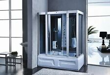 1600x850mm Modern Jacuzzi Steam Shower Room Cubicle Enclosure Cabin Bath