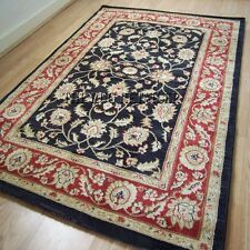 Ziegler Rugs Traditional Wilton Washed Antique Look Rug Black & Red 80X150cm