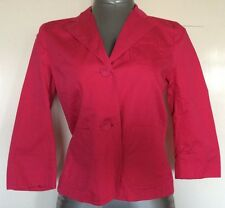 FRENCH CONNECTION, SIZE 10 PINK SINGLE BREASTED BLAZER/JACKET, NWOT, 100% COTTON