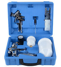 2pc HVLP Air Spray Gun Kit 1.4/0.8mm Nozzle Set Paint Touch Up Gravity Feed