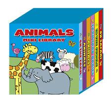 LEARN ANIMALS A MINI LIBRARY SET OF 6 BOARD BOOKS JUNGLE FARM & SAFARI 1901/ANML