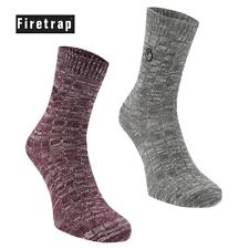 2 Pack - Ladies Firetrap Ember Warm Winter Socks | Thermal Thick | Size 4-8