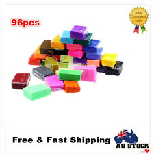 96PCS Craft Malleable Fimo Polymer Modelling Soft Clay Block Plasticine Toys