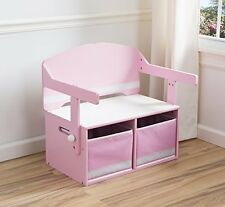 Delta Children 3-in-1 Storage Bench and Desk Pink