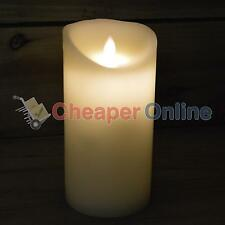 18cm x 9cm Battery Operated Dancing Flame Candle with Timer in Cream