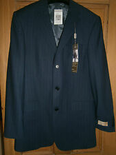 MARKS AND SPENCER INDIGO PURE NEW WOOL LIGHTWEIGHT JACKET SIZE 38L