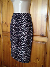 ❤️Womens Jane Norman Animal Print Pencil Midi Skirt Size 6 Excellent Condition❤️