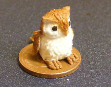 1:12 Large Polymer Clay Brown Owl Dolls House Miniature Garden Accessory Bird C