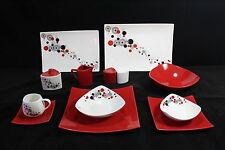 For 6 People 44 Piece Dinner Set in Red Circle.