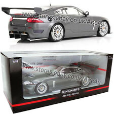 Minichamps 2008 Jaguar XKR GT3 Metallic Grey 1:18 Scale Diecast Model Car