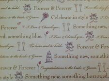 2 Sheets Gold CONGRATULATIONS ON YOUR WEDDING DAY Gift Wrapping Paper