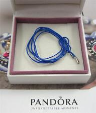 PANDORA | GENUINE Blue Fabric Lariat String w Silver Ends - 390961CBE-100