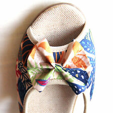 Shose, Cotton With Wedge Heels and Front & Side Opening for Casual comfort Size7