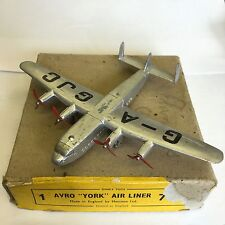 """Vintage Dinky Toys Avro """"York"""" Air Liner No. 70a Plane Boxed"""