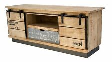 INDUSTRIAL SOLID MANGO WOOD ENTERTAINMENT UNIT