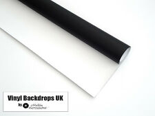 2m x 3m Matte Black & White Dual Sided Vinyl Background For Studio Photography